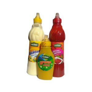 Кетчуп, майонез и горчица