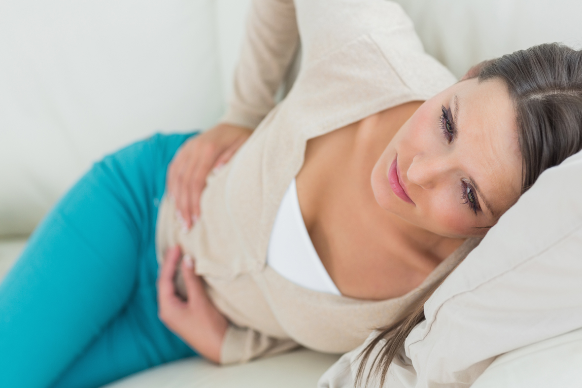 резкая боль в области желудка