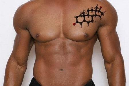 Формула тестостерона на мужском теле