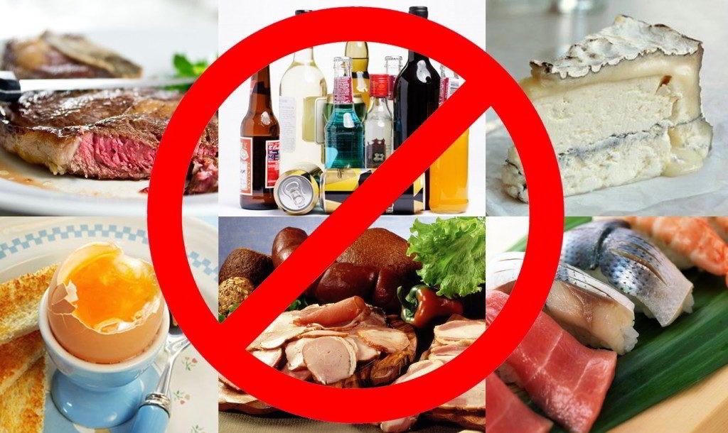 Исключить острые продукты, соления, жирную пищу