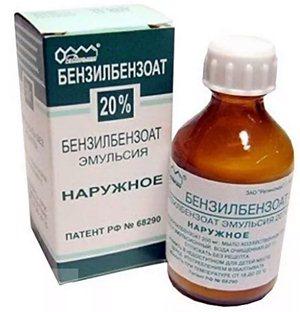 Бензилбензоат: применение от вшей (педикулеза)