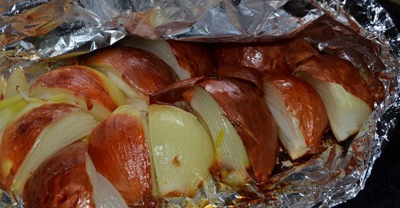 Печеный лук при гастрите
