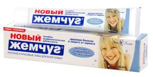 Новый Жемчуг: состав зубной пасты, виды продукции (с кальцием, для отбеливания и другие)