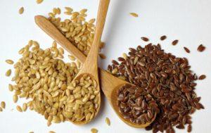 Белые или коричневые семена льна
