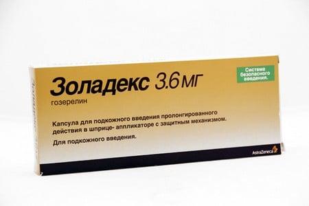 Упаковка препарата Золадекс