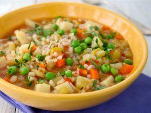 Овощные супы, каши